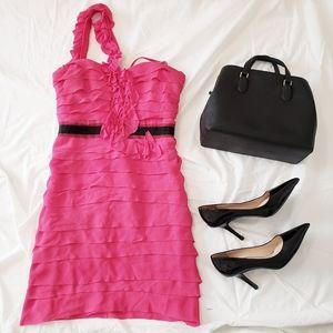 BCBGMAXAZRIA One Shoulder Azalea Dress